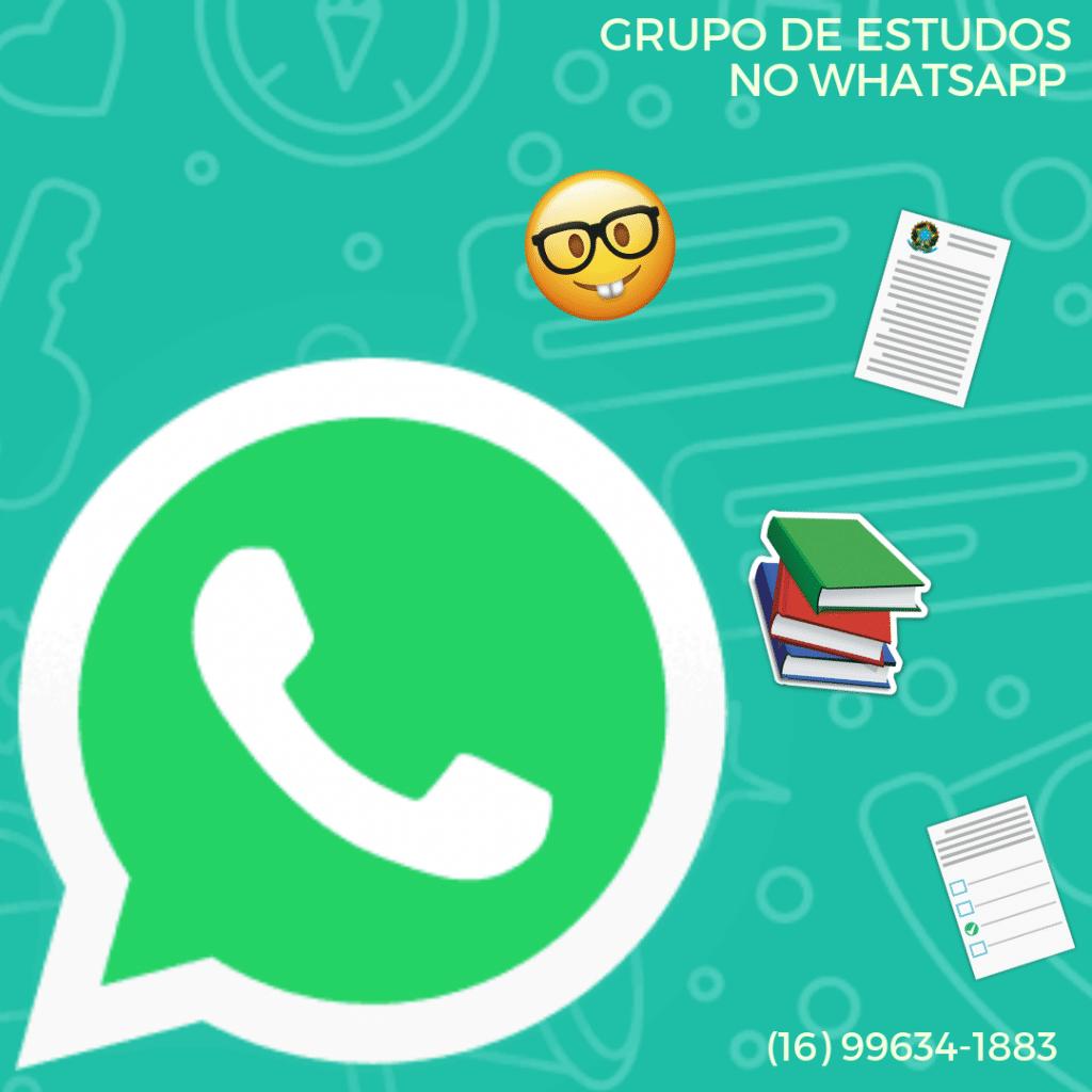 Grupo de estudos pelo WhatsApp Enem, OAB e concurso
