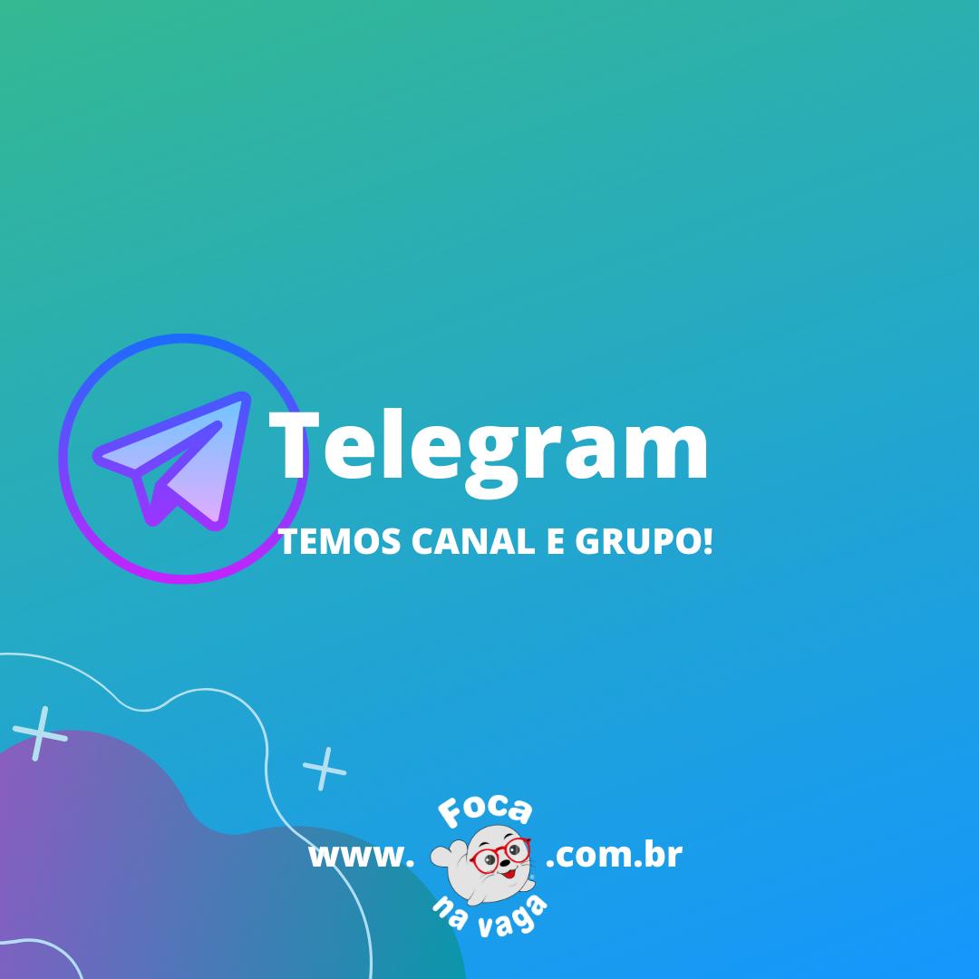telegram foca na vaga